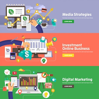 Digitales marketing illustrationen