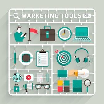 Digitales marketing illustrationen