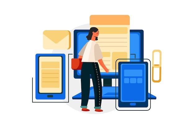 Digitales marketing-illustrationskonzept