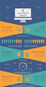 Digitales marketing-infografik für die präsentation.