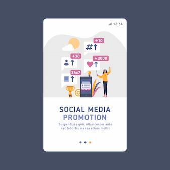 Digitales marketing, innovation in der wirtschaft mithilfe neuer sozialer medien und verschiedener tools, um das publikum und potenzielle kunden zu erreichen, lautsprecher.