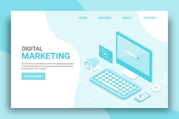 Digitales marketing-konzept