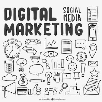 Digitales marketing kritzeleien