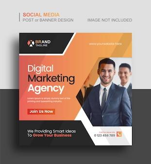 Digitales marketing oder business social media instagram post und webbanner-vorlage