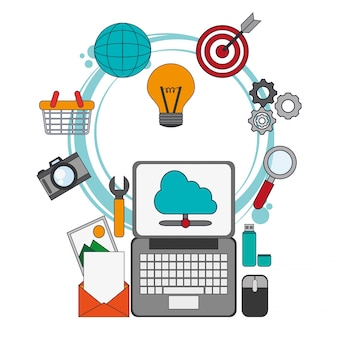 Digitales marketing-placement optimiert die arbeit