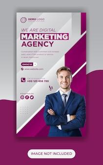 Digitales marketing social media banner post und social media storys design