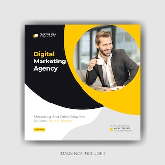 Digitales marketing social media banner und instagram post template design premium-vektor