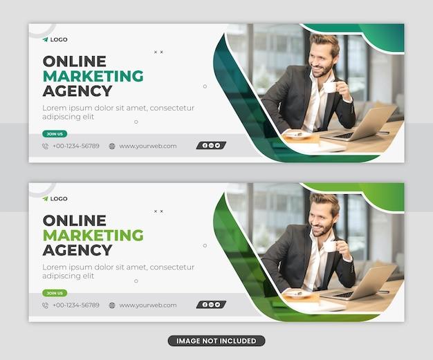Digitales marketing social media facebook cover web-banner-vorlagen-design