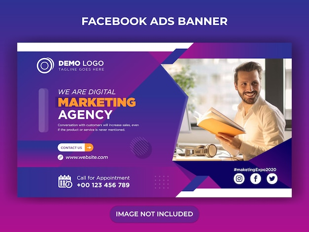 Digitales marketing social media post oder flyer design
