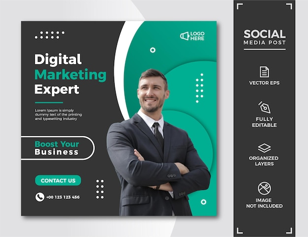 Digitales marketing social media post-vorlage.