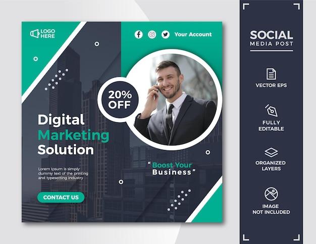 Digitales marketing social media post-vorlage