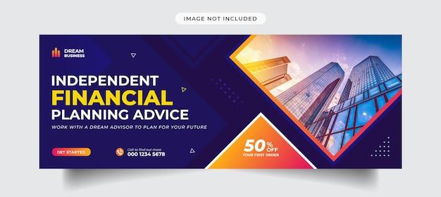 Digitales marketing und corporate social media cover und banner-vorlage Premium Vektoren
