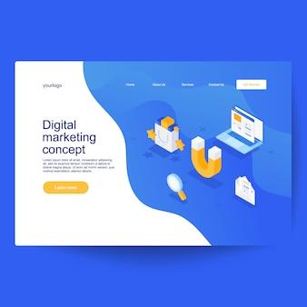 Digitales marketingkonzept. entwicklung und software. computercode mit fenstern auf dem laptopbildschirm