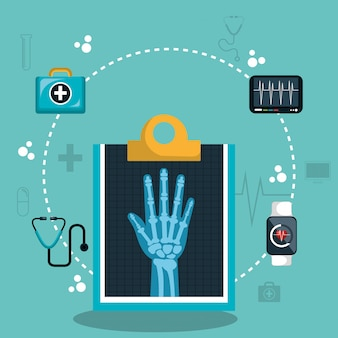 Digitales medizinisches gesundheitswesen des x-strahls lokalisiert