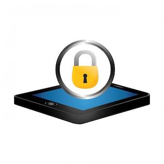 Digitales oder internet securityicon bild