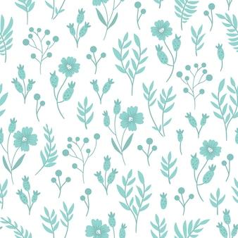 Digitales papier mit garten- oder waldpflanzen