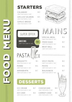 Digitales restaurantmenü