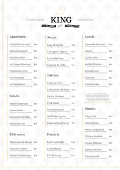 Digitales restaurantmenükonzept