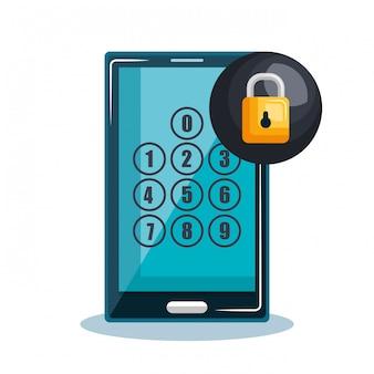 Digitales sicherheitsdesign der smartphone-technologie