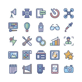 Digitalfotografie icons bundle