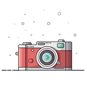 Digitalfotografie-symbol, logo. fotokamera auf weißem hintergrund.