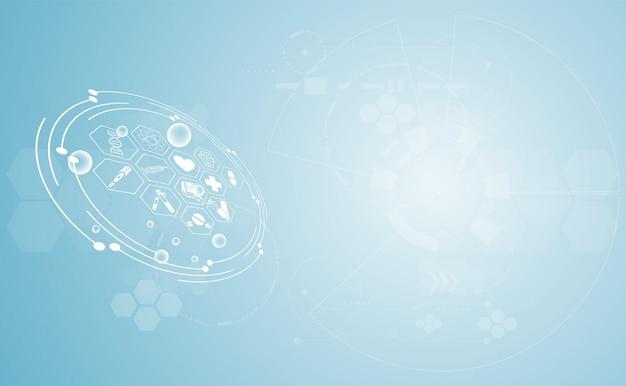Digitaltechnik des abstrakten gesundheitswesenhintergrundes der medizinischen wissenschaft