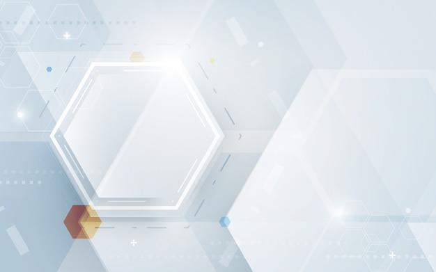 Digitaltechnik-hexagonhintergrund der abstrakten technologie