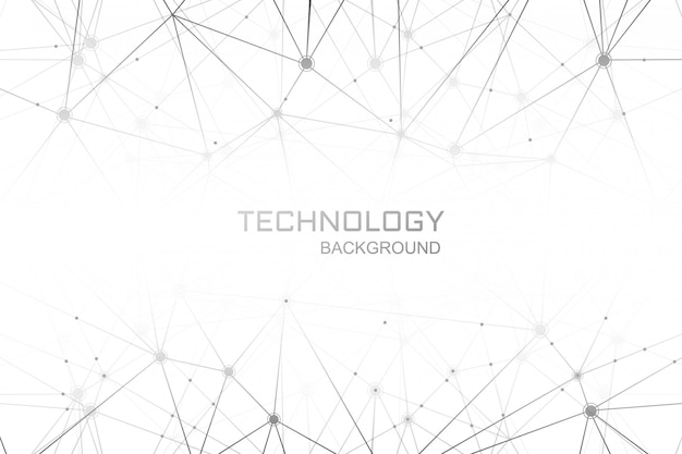 Digitaltechnik-polygonverbindungshintergrund