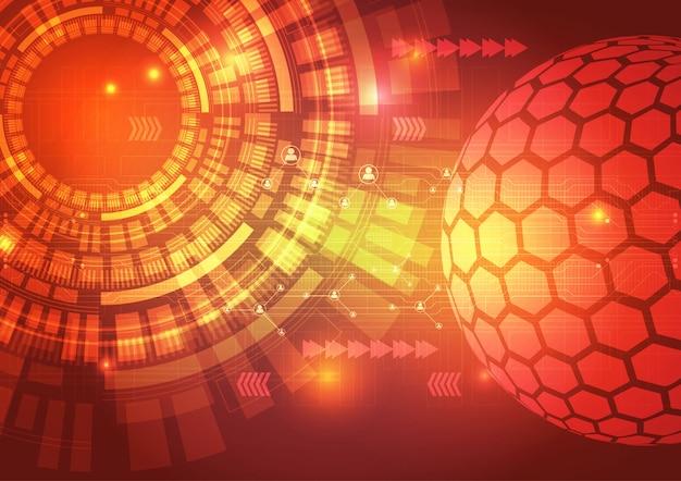 Digitaltechnik-stromkreis-zusammenfassungs-hintergrund-illustration