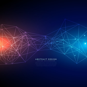 Digitaltechnologie hintergrund mit linien mesh gemacht