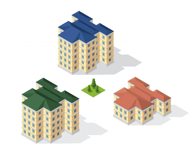 Dimensionales gebäude der modernen architektur