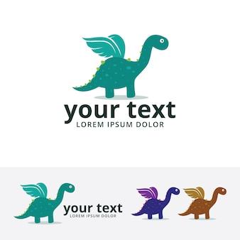 Dino flügel logo vorlage
