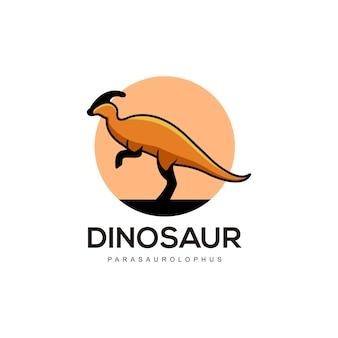 Dinosaurier abstrakte logo-design-vektor-flache farbe