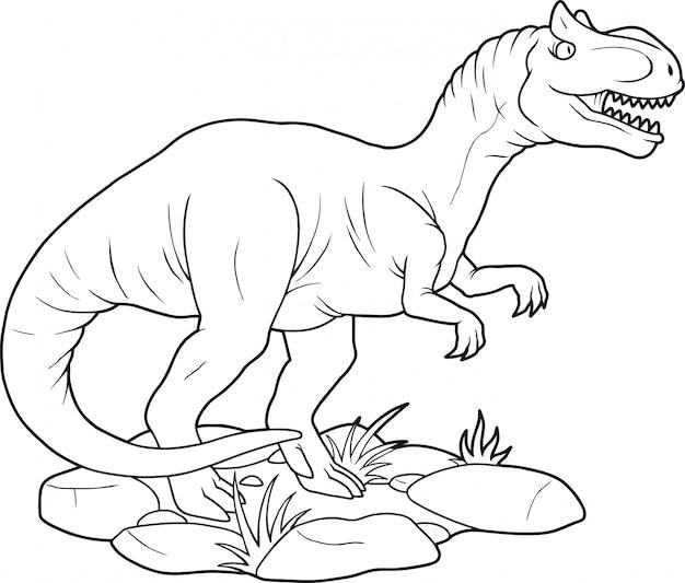 Dinosaurier allosaurus