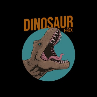 Dinosaurier-animation, trex-animation