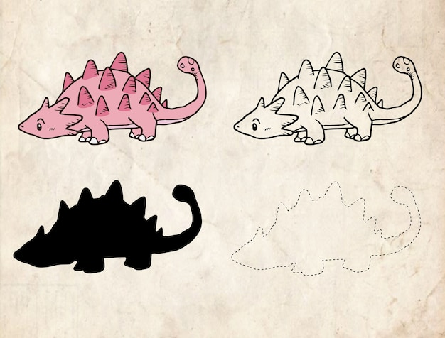 Dinosaurier-cartoon