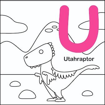 Dinosaurier färbung mit alphabet u.
