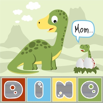 Dinosaurier-familienkarikatur