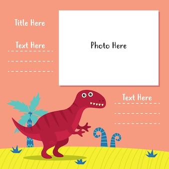Dinosaurier fotobuch vorlagenserie