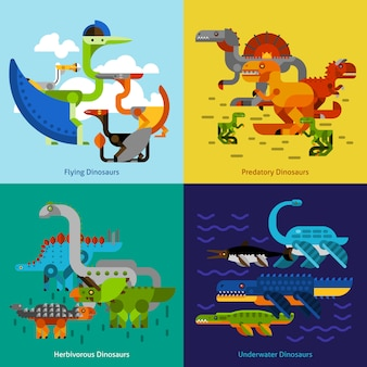 Dinosaurier icons set