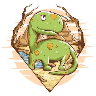 dinosaurier illustration premium