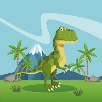 Dinosaurier im wald