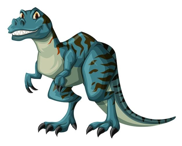 Dinosaurier in blauer farbe