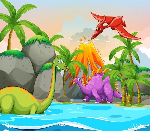 Dinosaurier in der natur