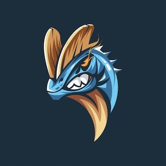 Dinosaurier-kopf-vektor-logo