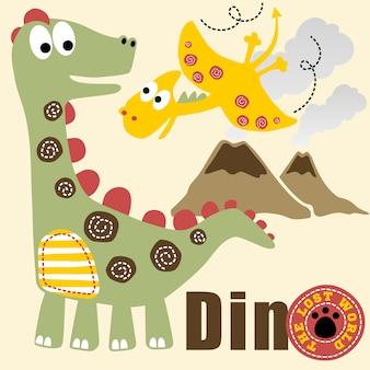Dinosaurier-leben-cartoon