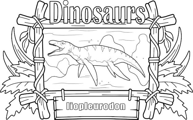Dinosaurier liopleurodon