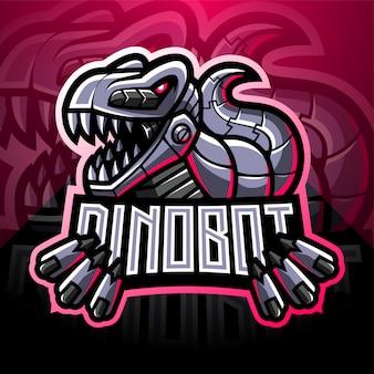 Dinosaurier roboter esport maskottchen logo design