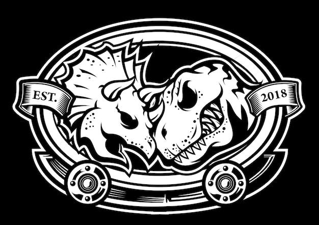 Dinosaurier schlacht kopf logo vektor