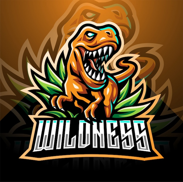 Dinosaurier sport maskottchen logo design